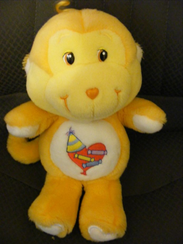 "MODERN 12"" PLAYFUL HEART MONKEY CARE BEARS COUSIN - IDEAL GIFT"